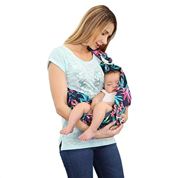 Amazon Com Baby Ring Sling Organic Cotton Baby Carrier By Haoqi