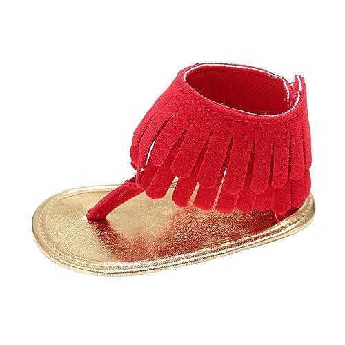 2bbfa07d Zapatos de bebé, Switchali Recién Nacido Bebe niña Verano Niños Cuna Suela  Blanda Antideslizante Sandalias