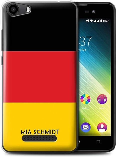 Personalizado Bandera Nacional Nación Personalizar Funda para el Wiko Lenny 2 / Alemán/Alemania Diseño/Inicial/Nombre/Texto Carcasa/Estuche/Case: Amazon.es: Electrónica