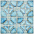 "SomerTile FKOMB21 Moonlight Diva Porcelain Floor and Wall Tile, 11.75"" x 11.75"", Blue from EliteTile"