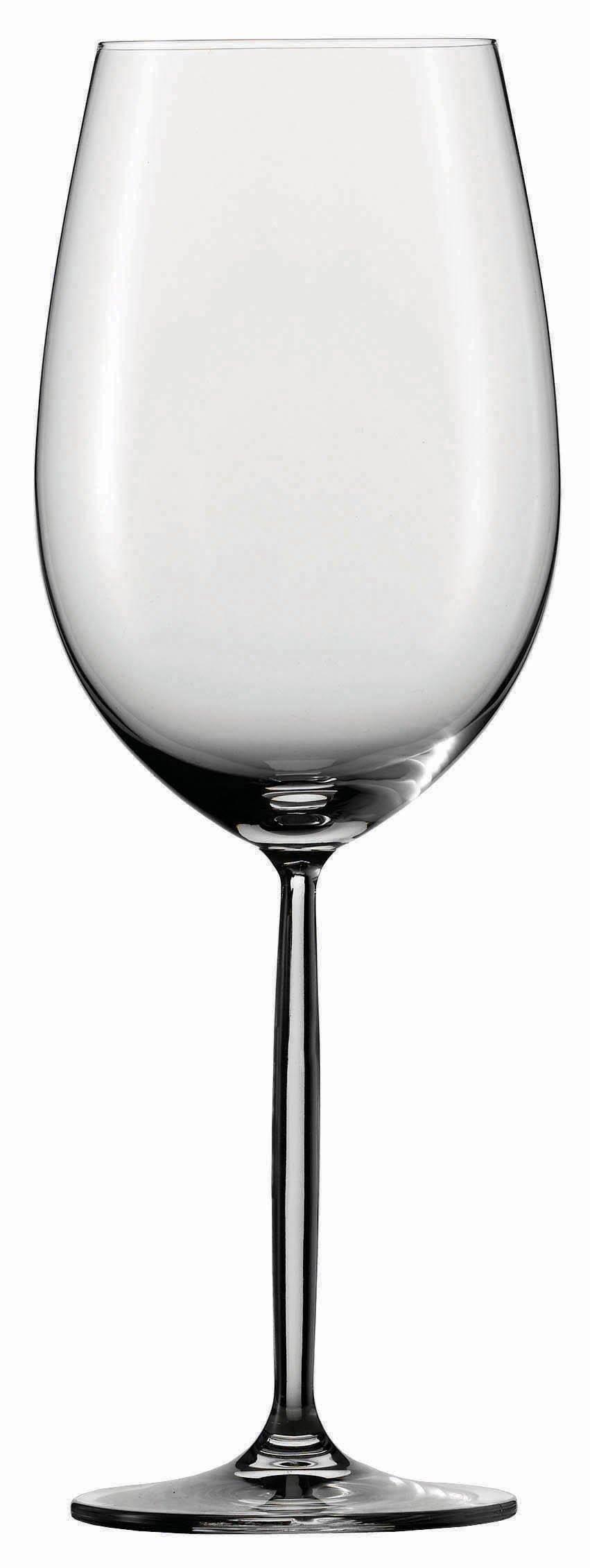 Schott Zwiesel Tritan Crystal Glass Diva Stemware Collection Claret/Bordeaux Goblet, Red Wine Glass, 26-Ounce, Set of 6