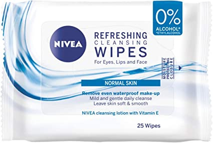 Nivea Daily Essentials 3 en 1 Toallitas de limpieza facial, piel normal, pack de 4, Total 160 toallitas: Amazon.es: Belleza