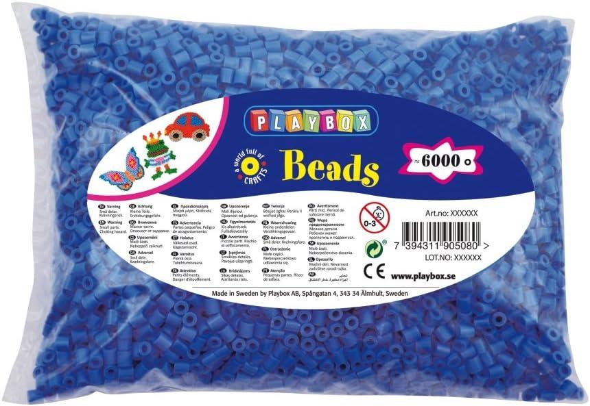 Playbox Iron-On Beads 6000-Piece, Blue