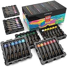 ARTEZA Acrylic Premium Artist Paints Set - 60 Colors (60 x 22 ml / 0.74 US fl oz)