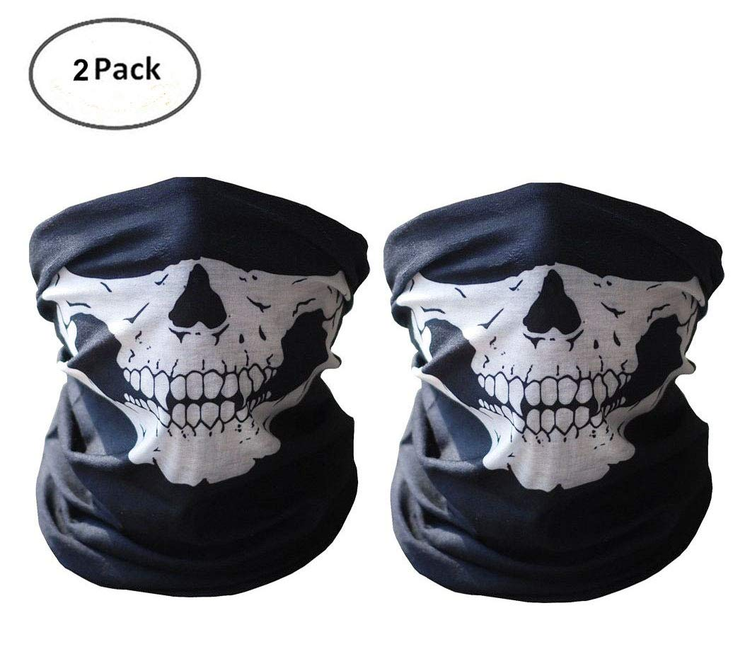 ThreeH Seamless Skull Mask Breathable Balaclava Bandana Dust-Proof Windproof Headwear FM112(2pcs)