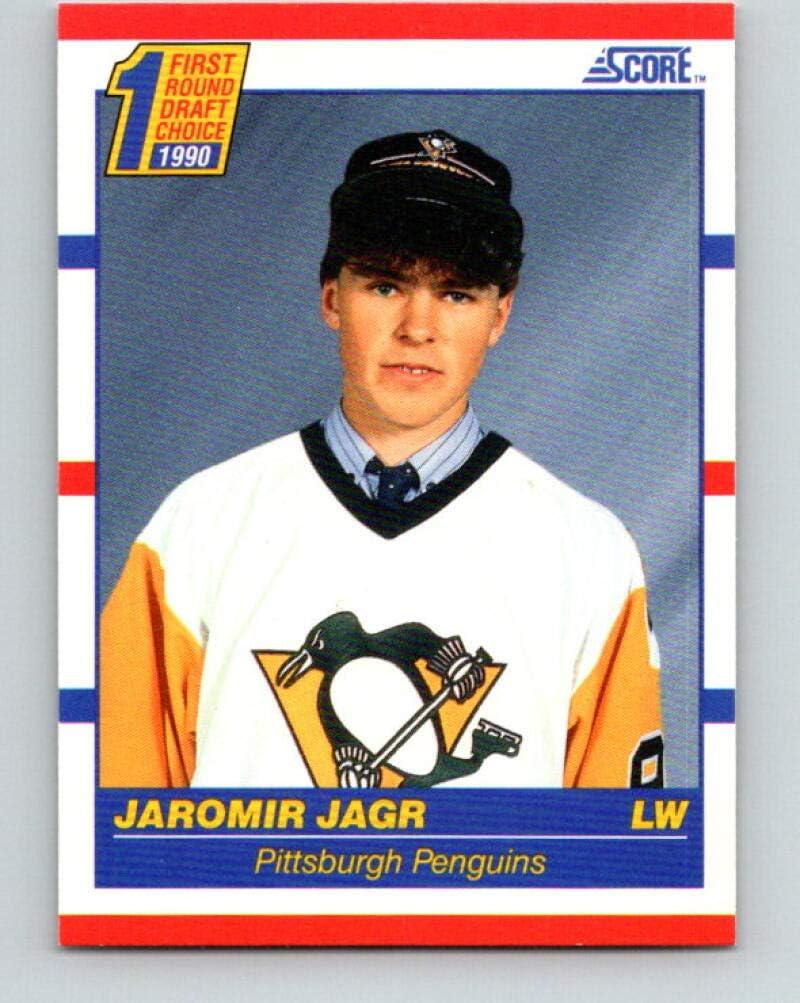 Jaromir Jagr Rookie Card 1990-91 Score #428 Pittsburgh Penguins Ships in Mint Brand New Holder