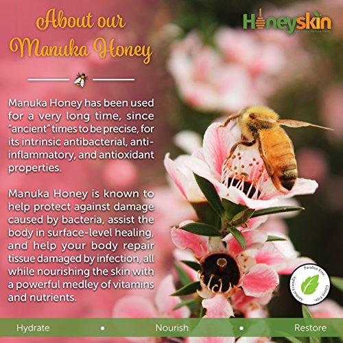 Honeyskin Organics Aloe Vera + Manuka Honey Face and Body Cream for Rosacea, Eczema, Psoriasis, Rashes, Itchiness, Redness with raw Superfoods, 4 oz. by Honeyskin Organics (Image #5)