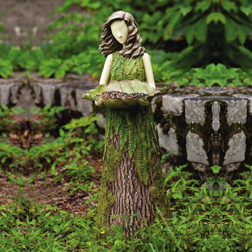 New Creative Sherwood Fern Statuary/Birdfeeder