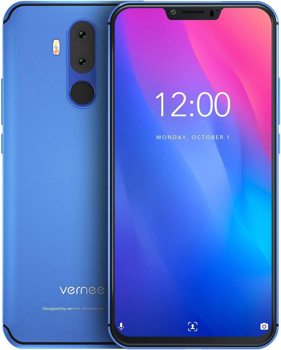 "Vernee M8 Pro Teléfono Móvil Libre 6GB RAM 64GB ROM, Pantalla FHD 6.2"" Cámara Dual AI 16MP+8MP, Batería 4100mAh Carga QI Inalámbrica Dual SIM 4G Volte, Android 8.1 Face ID Octa-Core 2GHz,"