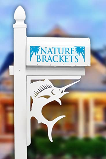 Nature Brackets Paintable PVC Mailbox Decorative Bracket (Sailfish)