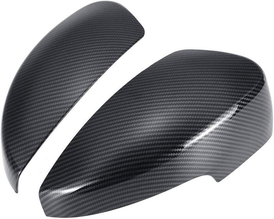 SLONGK ABS Carbon Fiber Color Side Door Mirror Cover Rainproof Visor Frame Sun Guard Sticker,For Ford Focus RS ST MK3 2012-2018