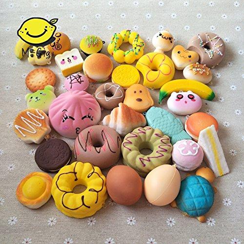 M-Gigi Random Squishy Cream Scented Slow Rising Kawaii Simulation Bread Children Toy, Soft Squishy Cake/Panda/Bread/Buns Phone Straps, Jumbo/Medium/Mini, 20 Piece by M-Gigi (Image #3)