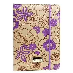 JAVOedge Poppy Folio Case for the Apple iPad Mini (Plum Purple)