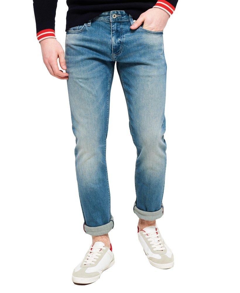 Superdry Men's Slim Jeans (Ocean Blue Used, 34W x 32L)