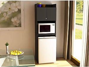 Altra Black Stipple Refrigerator Storage Cabinet