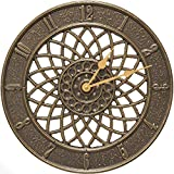 K&A Company Outdoor Clock - Spiral, 14'' x 14'' x 1.25'' x 8 lbs, French Bronze