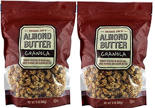 Trader Joe's Almond Butter Granola, Crunchy, 12 Oz (Pack of 2)