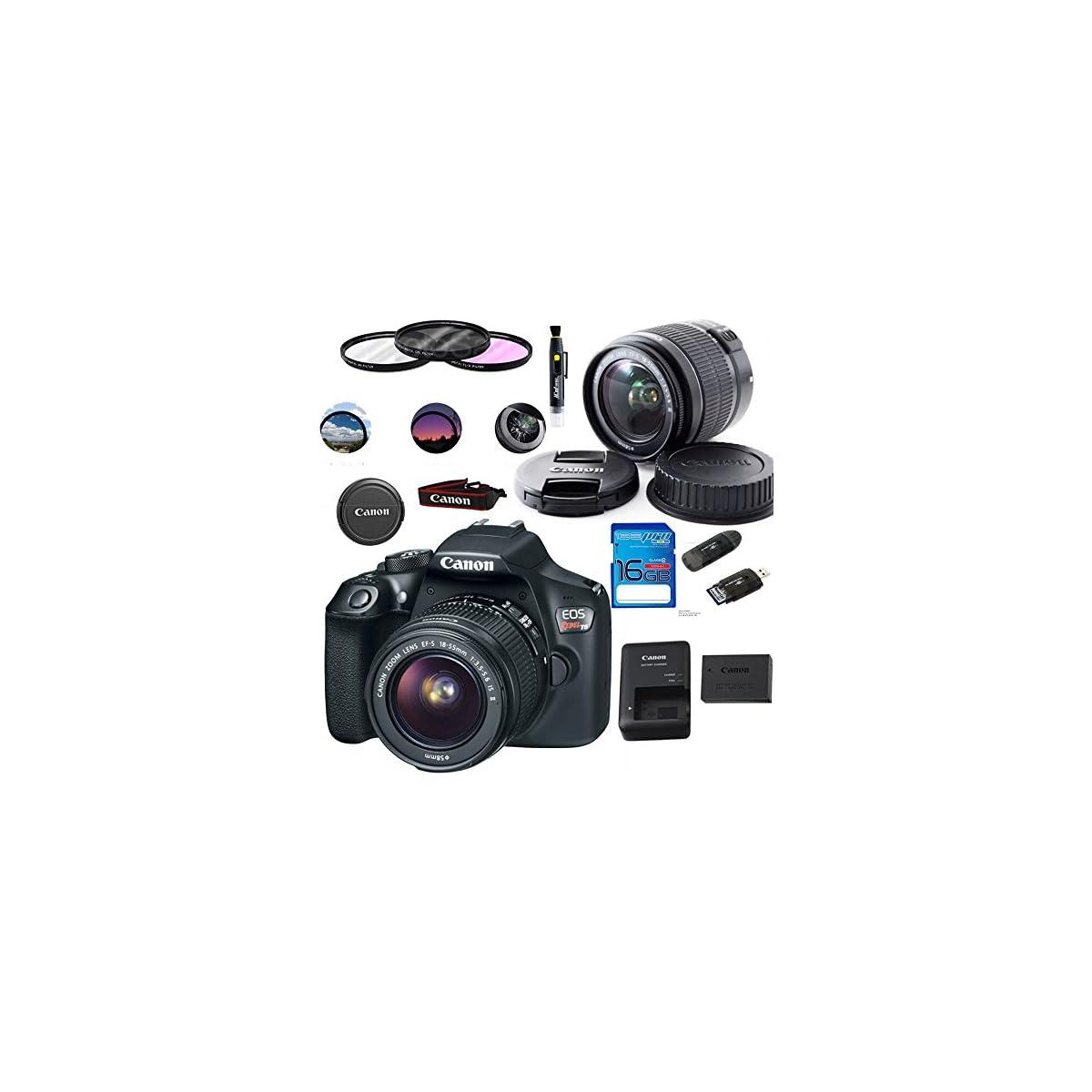 SaleProductsOffer - No.1 Best Online Store 61RRsPgDkQL Canon EOS 1300D / T6 EF-S 18-55mm 18.7MP CMOS 5184 x 3456 Pixels (Black) + Deal-Expo Basic Accessories Bundle
