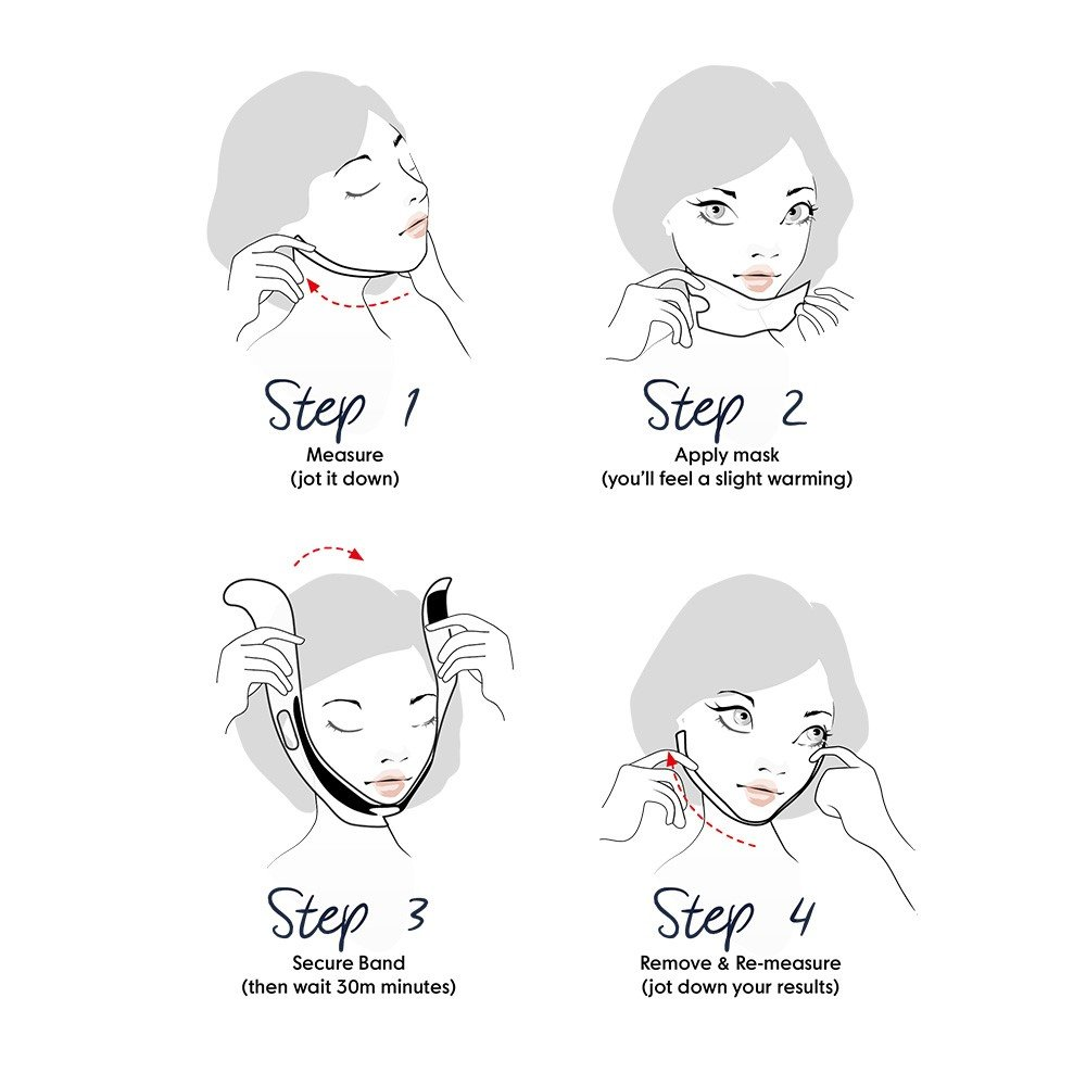 ChinUp Mask by UpYours - Non-Surgical Face Mask Kit, Best for Skin Firming, Tightening, Anti Wrinkle and Lifting. Also helps Double Chin Reduction for sagging skin, jowls and turkey neck (Trial Set)