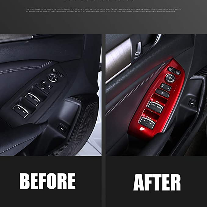 BOYUER 4PCS Fit ACCORD BlACK Accessories Car Door Panel Stickers Cover Decorative Trims Strips Inner Decals for 10th Gen Honda ACCORD Sport LX EX-L EX Touring 2020 2019 2018(Not Fit Coupe)