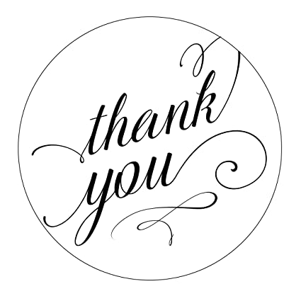 amazon com pretty thank you stickers elegant wedding swirl font