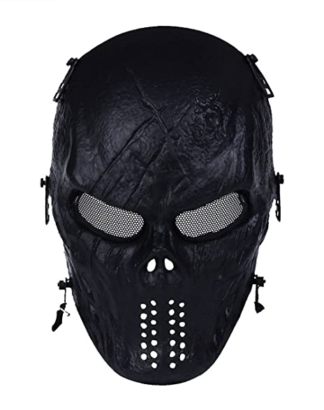 TACVASEN Tactical Airsoft Full Face Costume Mask for CS Game/BB Gun/Cosplay/  sc 1 st  Amazon.com & Amazon.com : TACVASEN Tactical Airsoft Full Face Costume Mask for CS ...