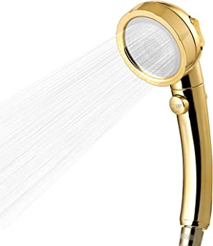 3 Spray Setting High Pressure Rainfall Shower Head Handheld With ON//Off Pause