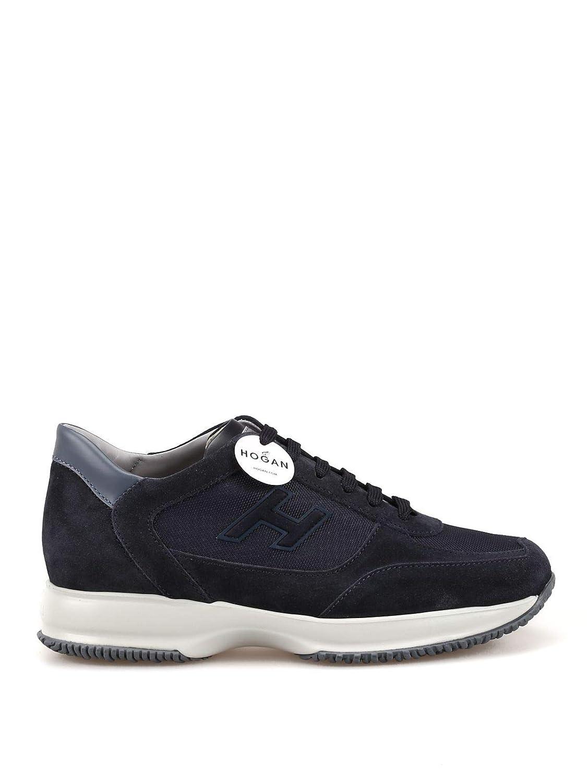 Hogan herrar HXM00N0Q102JGF3735 blå blå blå läder skor  den klassiska stilen