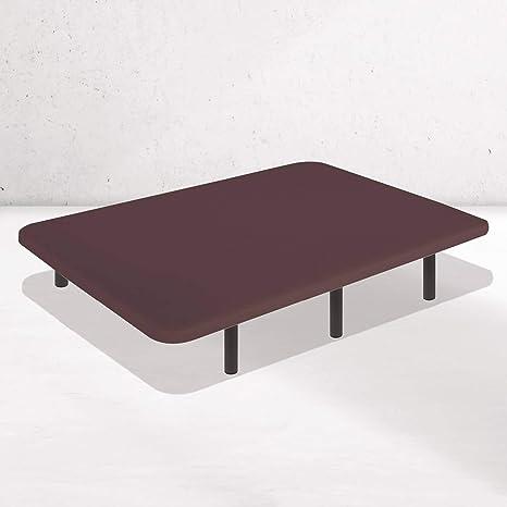 Dreaming Kamahaus Base Tapizada Tejido 3D AIRFRESH en Chocolate | 90 x 200 cm | 5 Barras transversales | Estructura metálica 30x40mm | Tablero ...