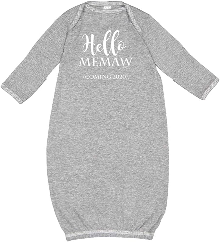 Announcement Baby Cotton Sleeper Gown Hello Memaw Coming 2020