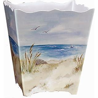 Amazon.com: Bathroom Wastebasket Decorative Plastic Nautical ...