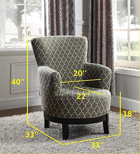 NHI Express 90023-27 London Swivel Accent Chair, Regular