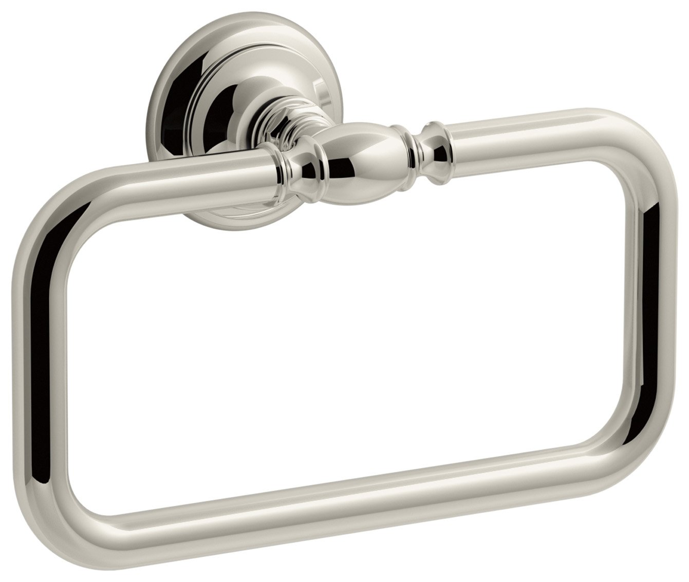 KOHLER K-72571-SN Artifacts Towel ring, Vibrant Polished Nickel