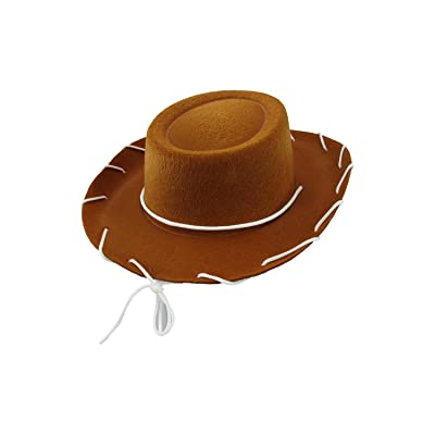 Child Western 1950's Style Kids Cowboy Ranch Hat, Brown, One Size: Clothing