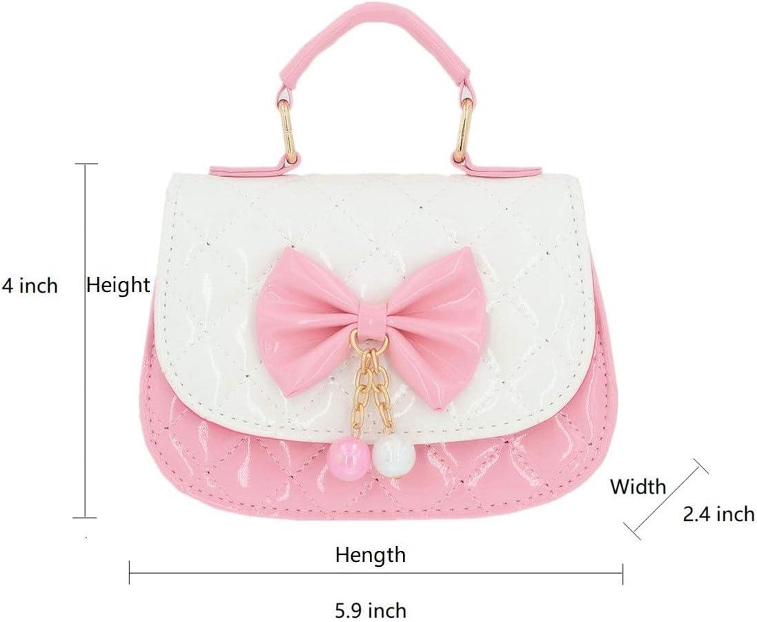 Nyusdar Cute Baby Coin Purse Handbag Faux Fur Kids Girls Cross-Body Bags Children Mini Messenger Bag Toddler Wallet Bag Pink