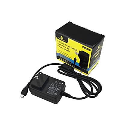 KEYESTUDIO 5 25V 2 4A Power Supply/Adapter/Charger (USB Micro-A) for  Raspberry Pi 3