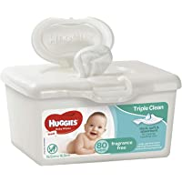 Huggies Wipes 80 Tub Fragrance Free