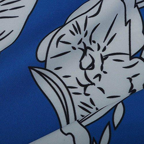 Dames lastique Automne Floral Femmes Pantalon Harem Boho Bleu Imprimer Taille NINGSANJIN Pantalon vXwIqHx00
