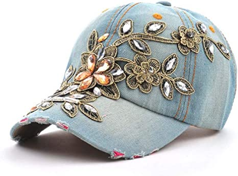 YUANBAOG Sombreros Gorras Ropa de Lavar Diamante Gorra de ...