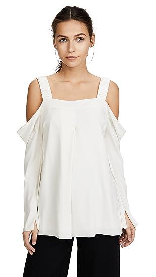 860a64369170f Amazon.com  Elizabeth and James Women s Yera Cold Shoulder Top  Clothing