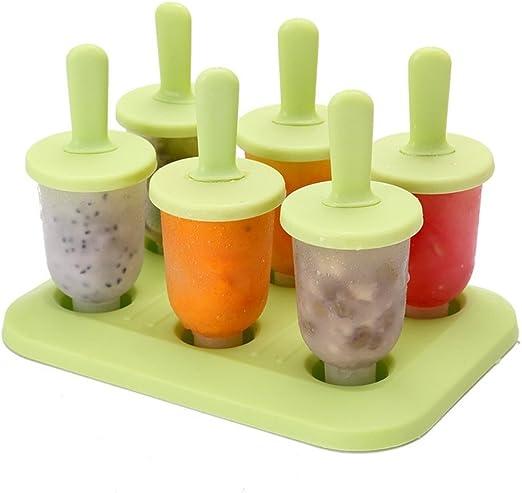 6 de células congeladas Ice Cream Pop Mold Popsicle fabricante del ...
