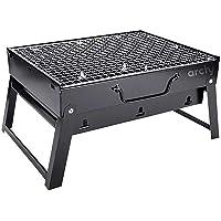 ARCHY Asador Barbacoa de carbón portátil Parrilla plegable Smoker BBQ Folding Grill Tabletop Outdoor ahumador barbacoa…