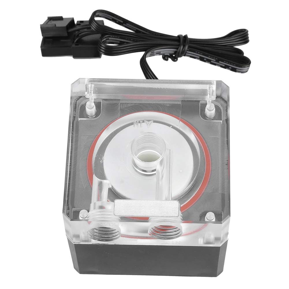 Water Cooling Pump, 800L/H PC Water Cooling Integrated Mute Water Pump Support PWM for CPU Cooling System.