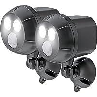 Mr Beams 300-Lumen Weatherproof Wireless Battery Powered LED Ultra Bright Spotlight with Motion Sensor, Brown, MB392-BRN-02-13