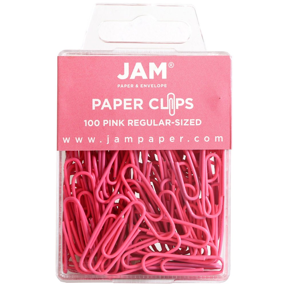 Amazon.com : JAM Paper Colored Standard Paper Clips - Small - Pink ...