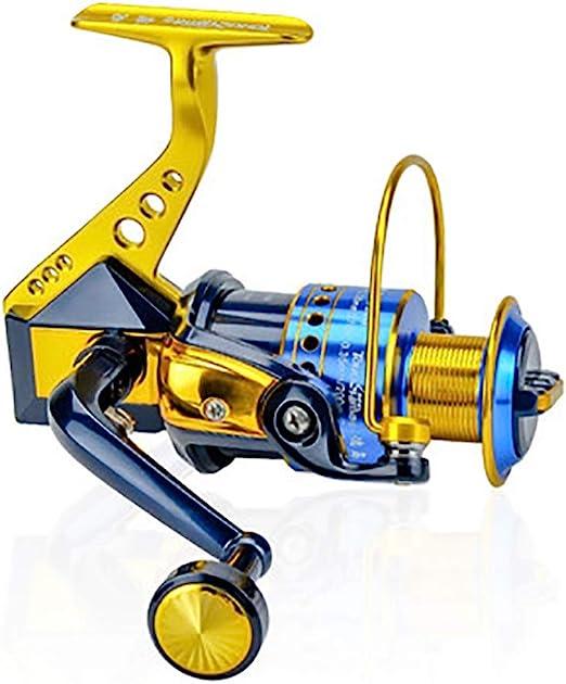 Wguili Carretes Carrete de Pesca Spinning Fibe para Agua Salada o ...