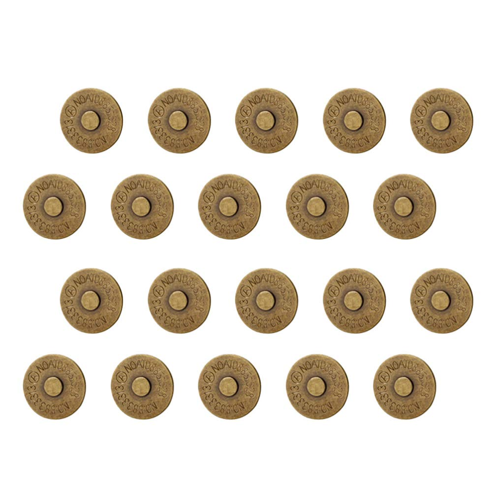 Healifty 200pcs Magnetic Snap Buttons Snap Clasp Buttons Ultrathin Metal Clasps for Cloth Purse Jewelry Making 14mm Bronze by Healifty