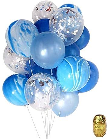 Yuccer Globos Confeti, Globos de Fiesta de Colores Látex Globos Transparentes para Aniversario Navidad Cumpleaños