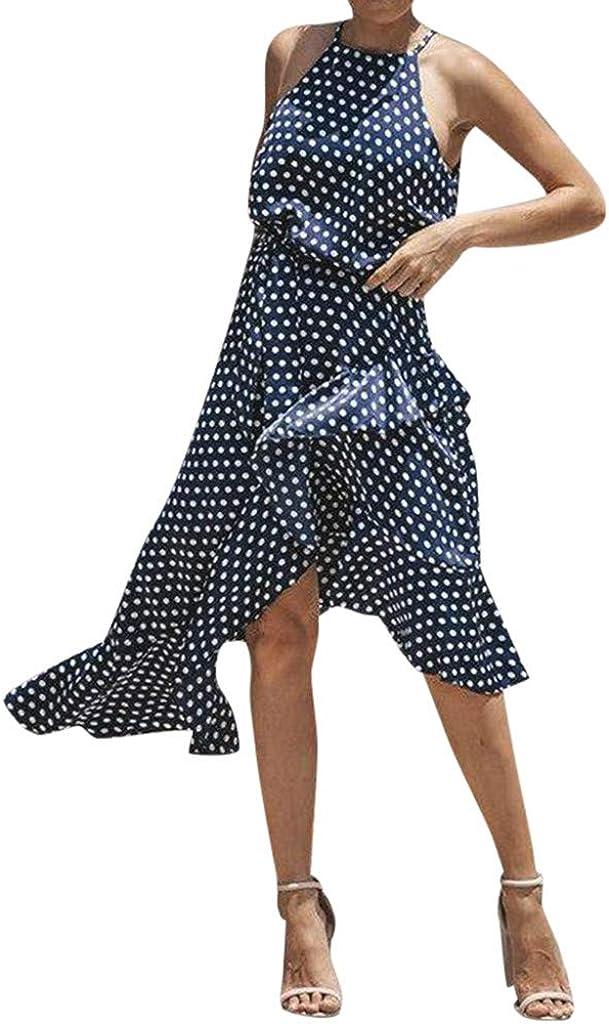 Auifor Vestido sin Mangas de Playa de Verano para Mujer Las Mujeres descubrir/án los Vestidos Casuales