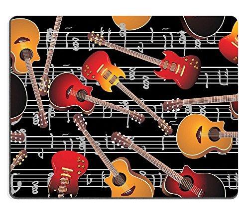 Luxlady Mousepads guitarra acústica y guitarra eléctrica Seamless Patrón imagen 22894217 arte escritorio personalizado Laptop Gaming Mouse Pad: Amazon.es: ...